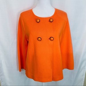 J. Crew Sweater Coat Blazer NWT Military Orange L
